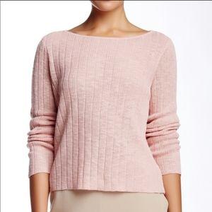 Eileen Fisher Pink Linen Blend Knit Sweater